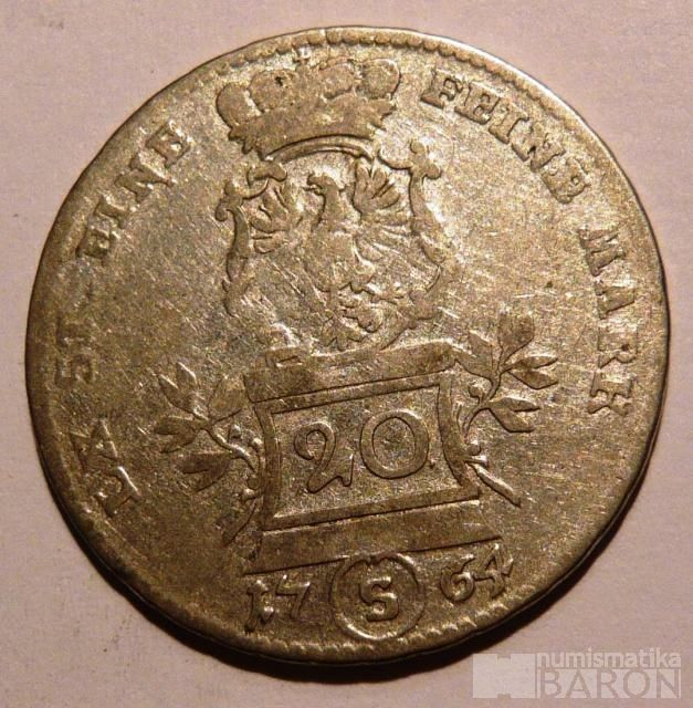 Brandenberg 20 Krejcar 1764 Alexander