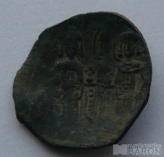 Byzanc BILLON TRACHY malý MODUL Constantinopol 1204-61