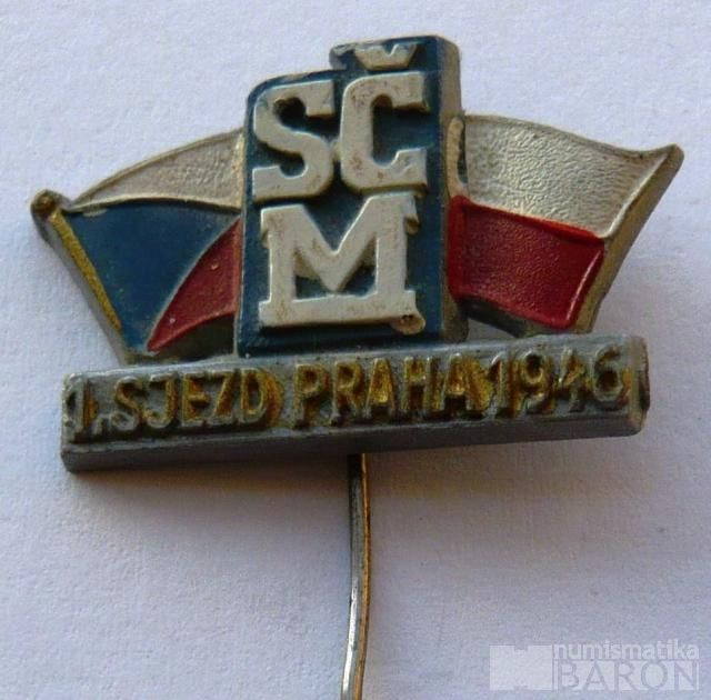 ČSR - 1.sjezd ČSM - Praha 1946