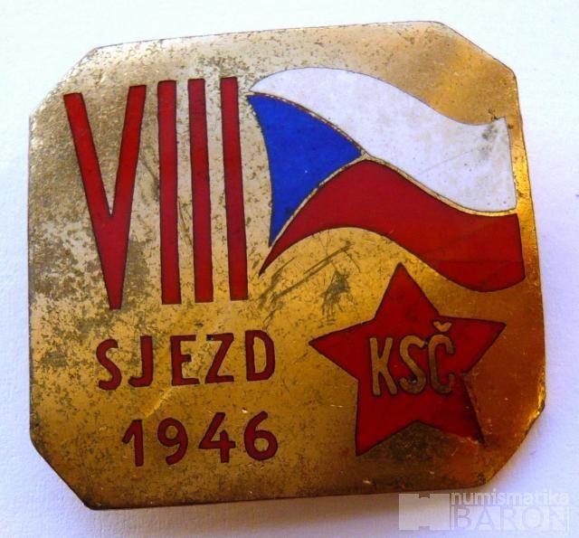 ČSSR - VIII.sjezd KSČ 1946 - smalt