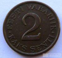 Estonsko 2 Senti 1934