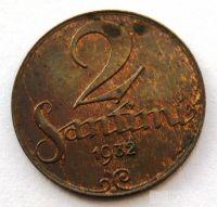 Lotyšsko 2 Santim 1932