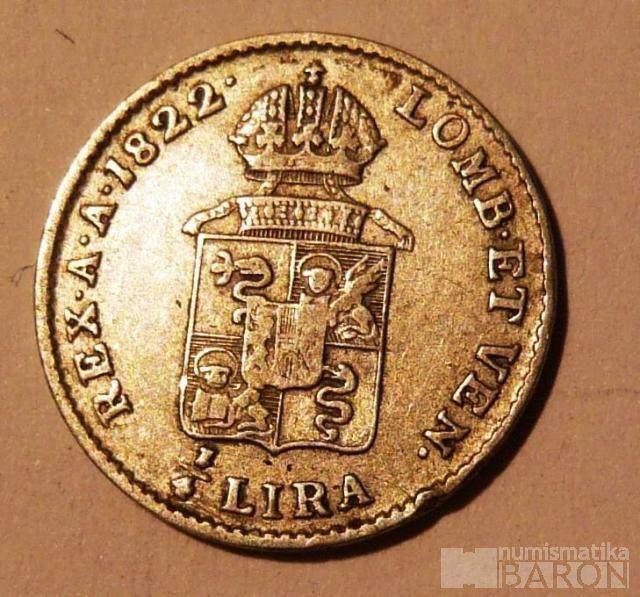 Rak.Itálie 1/4 Lira 1822 M František II.