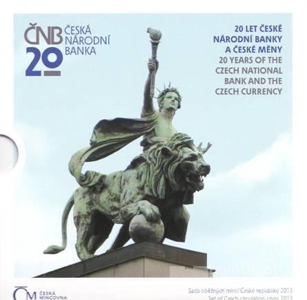 Ročníková sada oběžných mincí ČR (2013-20 let ČNB a české měny), stavy 0/0