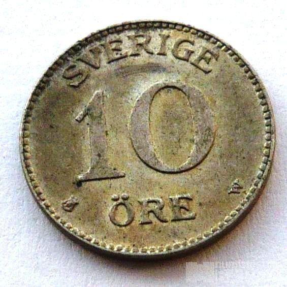 Švédsko 10 Őre 1917