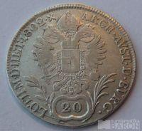 Čechy 20 Krejcar 1802 C Frant. II.