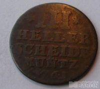 Hessen Kassel III. Heller 1761
