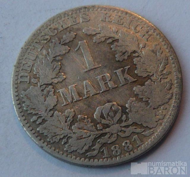 Německo 1 Marka 1881 A