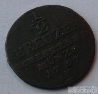 Prusko 1/2 Krejcar 1797