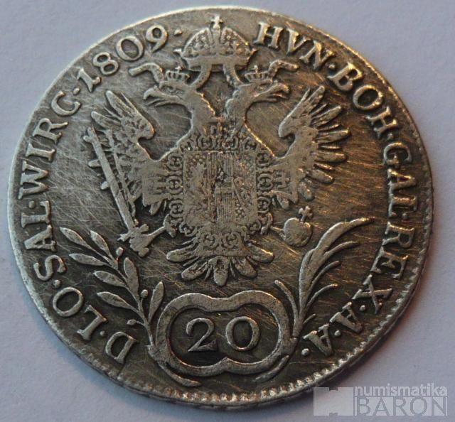 Rakousko 20 Krejcar 1809 A Frant. II.