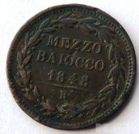 Vatikán 1/2 Baiocco 1848