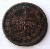 Vatikán 1/2 Baiocco 1851