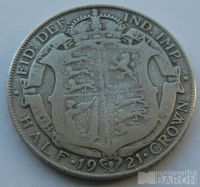 Anglie 1/2 Cronen 1921 Jiří V.