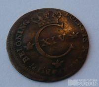 Švédsko 1/4 Schlling 1819 Karel XIV.