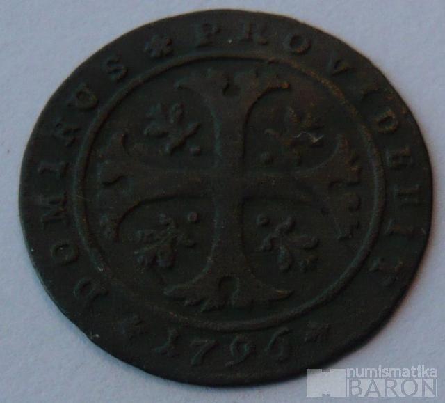 Švýcarsko 1/2 Batren 1796 BERN