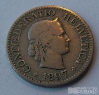 Švýcarsko 10 Rappen 1897 B