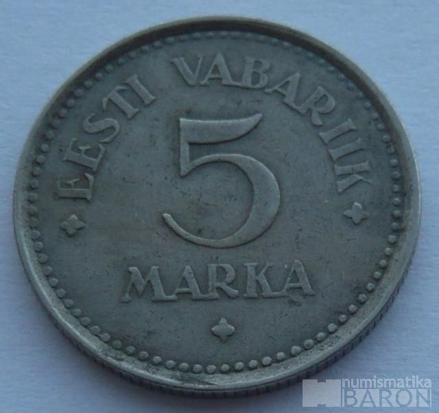 Estonsko 5 Marek 1922