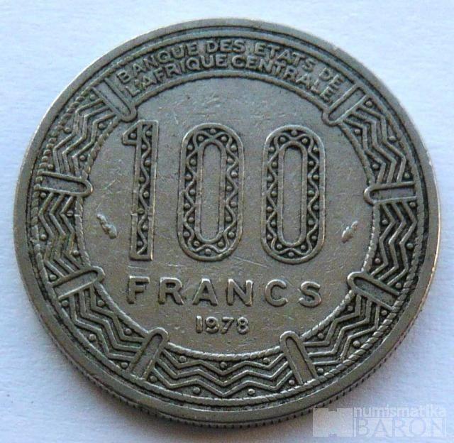 Gabon 100 Frank 1975