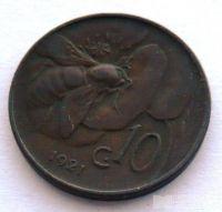 Itálie 10 Centesimi 1921