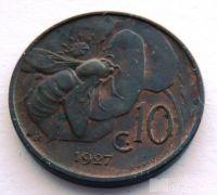 Itálie 10 Centesimi 1927