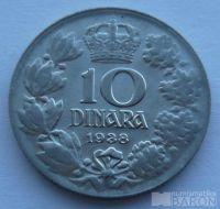Jugoslávie 10 Dinár - STAV 1938