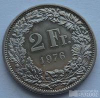 Švýcarsko 2 Frank 1976