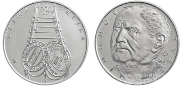 200 Kč(2014-Bohumil Hrabal), stav bk, kapsle a certifikát