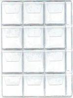 List k uložení mincí do alba BARON 2,  12 kapsiček-střední