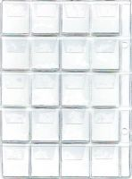 List k uložení mincí do alba BARON 2,  20 kapsiček-nejmenší