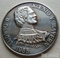 Německo - Ag med.Ludvík II. bavor.král