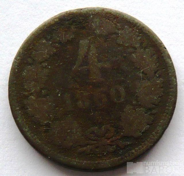 Rakousko 4 Krejcar 1860 A