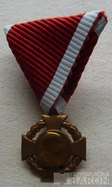 Rakousko - kříž na 40 let vlády jednostranná miniatura KOPIE
