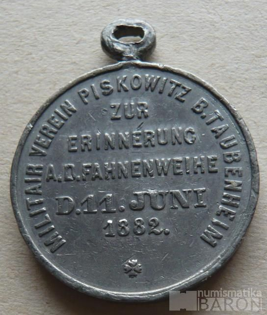 Sasko medaile vojen.spolku 1882