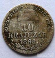 Uhry 10 Krejcar 1869 GYF