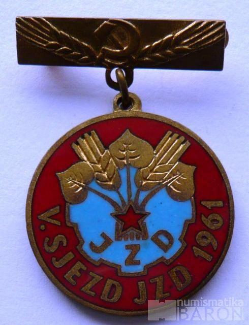 V.sjezd JZD - 1961 -smalt