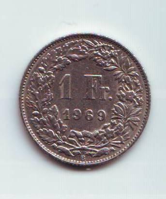 1 Frank(1969-Švýcarsko), stav 1/1