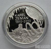 200 Kč(2010-Zeman), stav PROOF, etue, certifikát