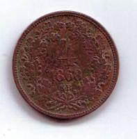 4 Krejcar(1868-ražba KB), stav 2/2+