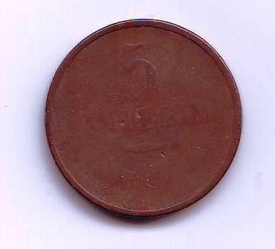 5 Centesimi(1822-ražba M), stav 3-/3+