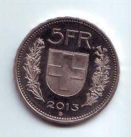 5 Frank(2013-Švýcarsko), stav 1/1
