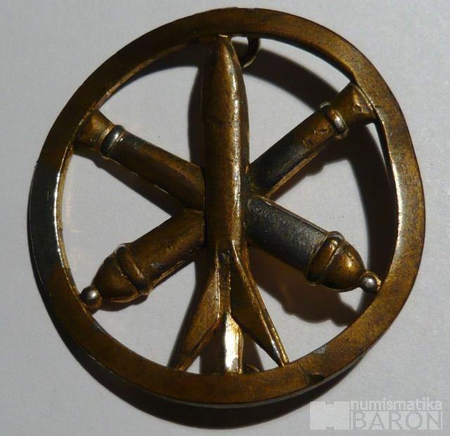 Francie Čepicový odznak - raket.vojsko + dělostřel.