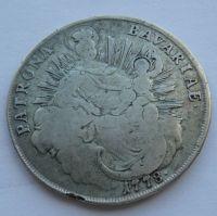 Bavorsko Tolar 1778 Karel Theodor