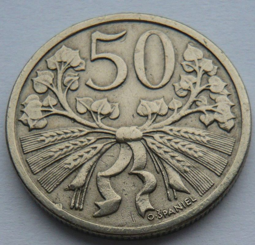 ČSR 50 Haléř - STAV 1921