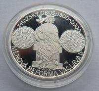 200 Kč(2000-Pražský Groš), stav PROOF, etue, certifikát
