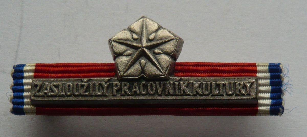 ČSSR - Zasloužilý pracovník kultury + orig + etue