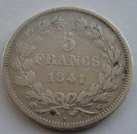 Francie 5 Frank 1841 Ludvík Filip