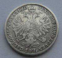 Rakousko 1 Fl 1860 E