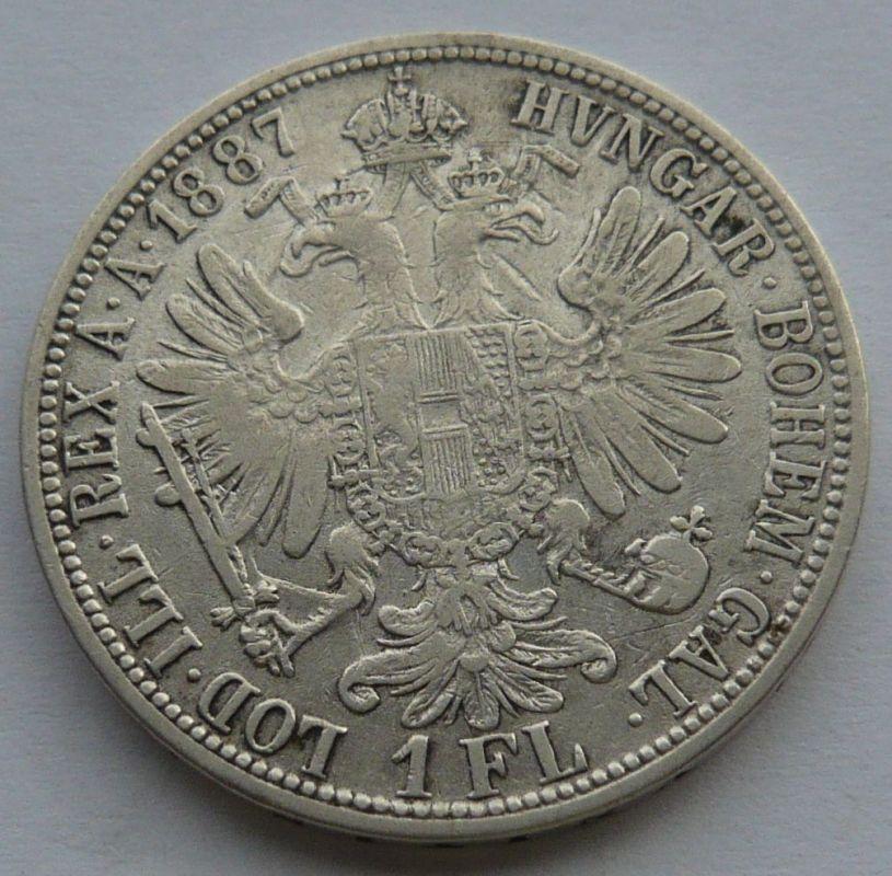 Rakousko 1 Fl 1887