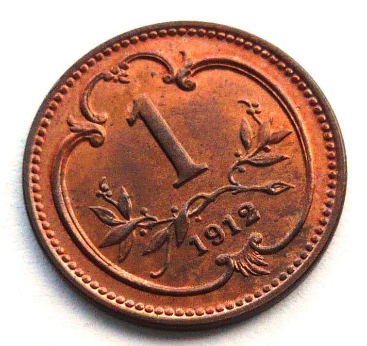 Rakousko 1 Haléř 1912 STAV