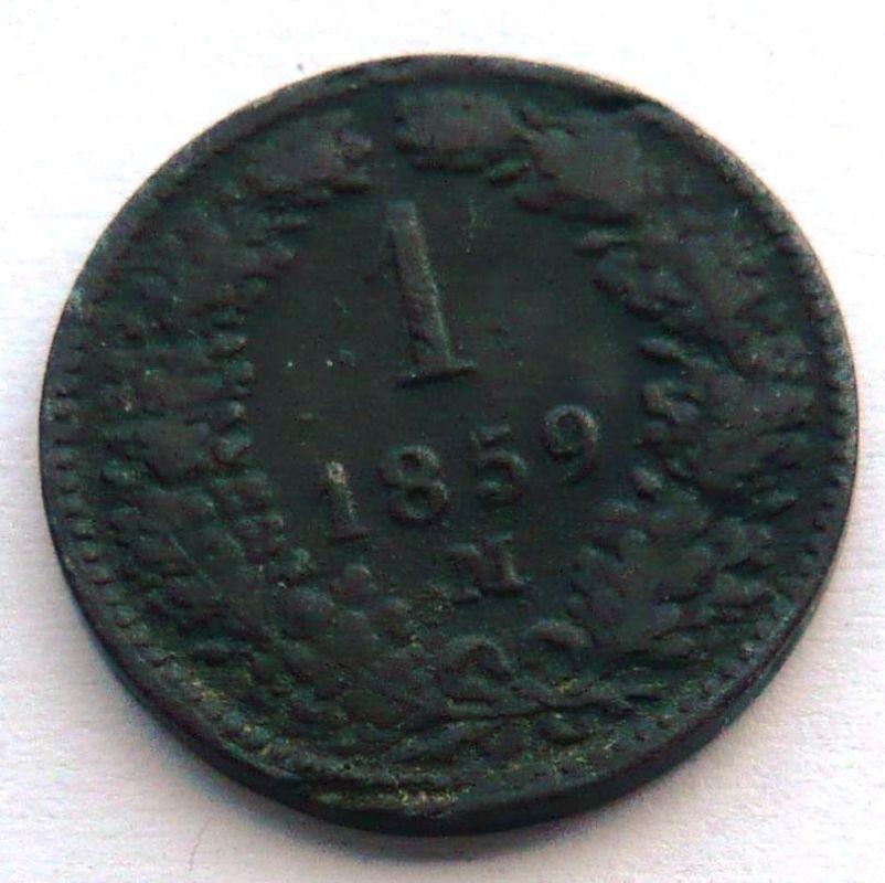 Rakousko 1 Krejcar 1859 M